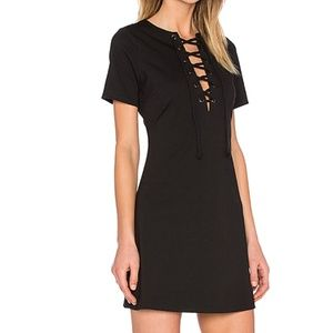 LUCCA COUTURE Lace Up Shift Dress